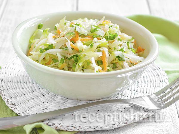 Салат из капусты с морковью по домашнему