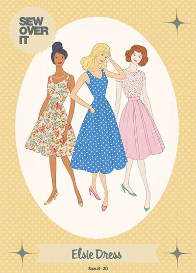 BRAND NEW Elsie Dress sewing pattern, perfect for vintage lovers!