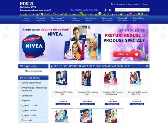 Web design & Development - Nivea-Shop.ro
