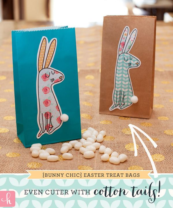 Free Printables: Shabby Chic Easter Bunnies {+ Blog Hop!}