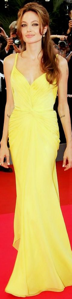 Angelina Jolie in Emanuel Ungaro yello gown.  You Can Do It 2. http://www.zazzle.com/posters?rf=238594074174686702