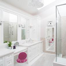 transitional bathroom by Sacha Nizami Design