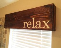 Wooden Window Cornice Valence Box - Customizable in color, text, and size