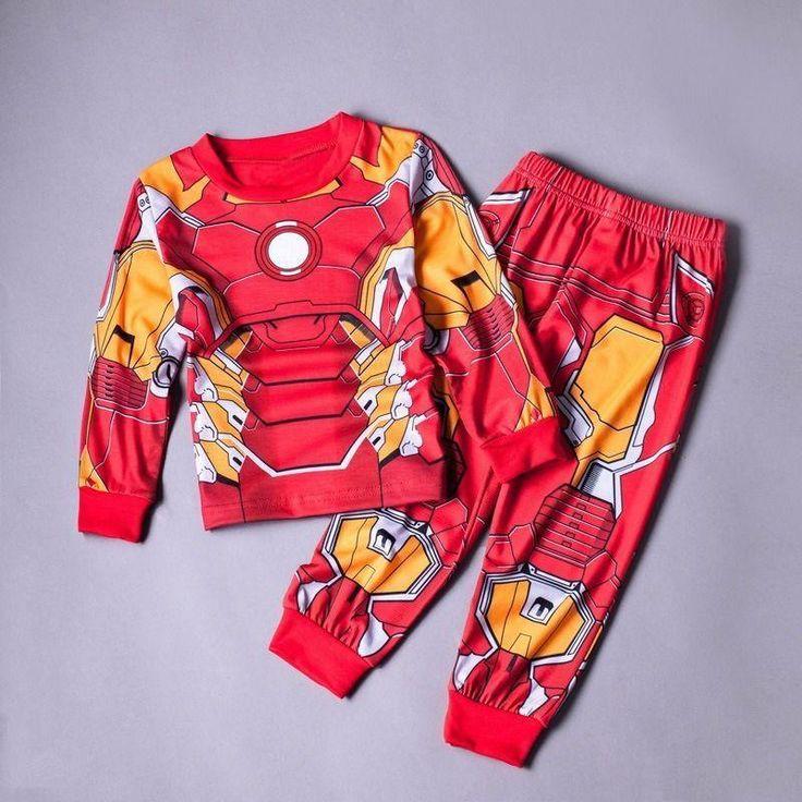 2017 New Iron Man Boys SuperHero Halloween Fancy Dress Kids Child Costume Cosplay Free Shipping