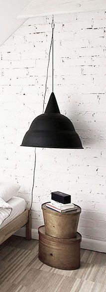 = oversized pendant as bedside lamp