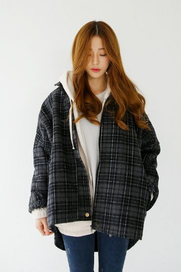 Plaid Dumble Jumper | Korean Fashion whenever i wear plaid I look like a tomboy country girl :/