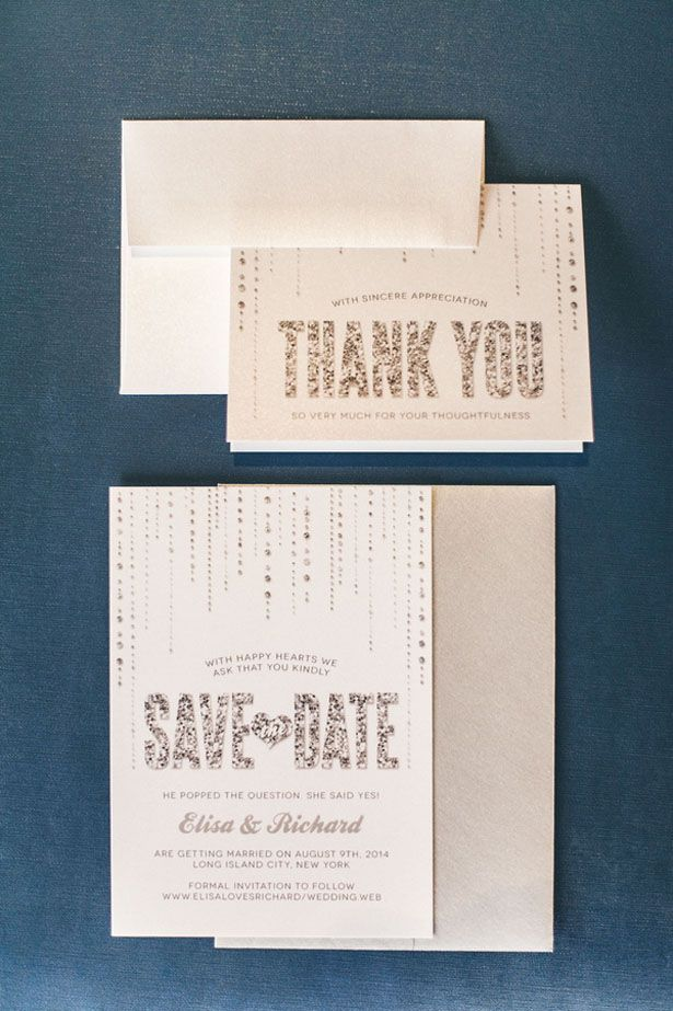 custom wedding invitations new york city%0A City Glam Wedding Inspiration with Reversible Bridesmaid Dresses
