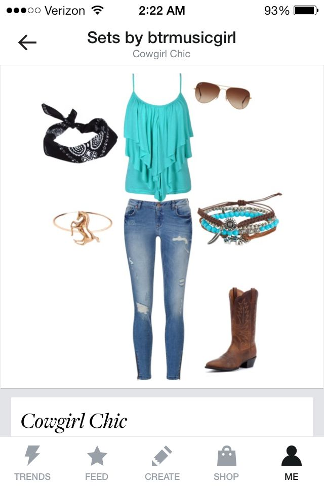 Country Cowgirl Chic outfit for teens