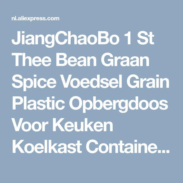 JiangChaoBo 1 St Thee Bean Graan Spice Voedsel Grain Plastic Opbergdoos Voor Keuken Koelkast Container in JiangChaoBo 1 St Thee Bean Graan Spice Voedsel Grain Plastic Opbergdoos Voor Keuken Koelkast Container van Opbergdozen & Bakken op AliExpress.com | Alibaba Groep