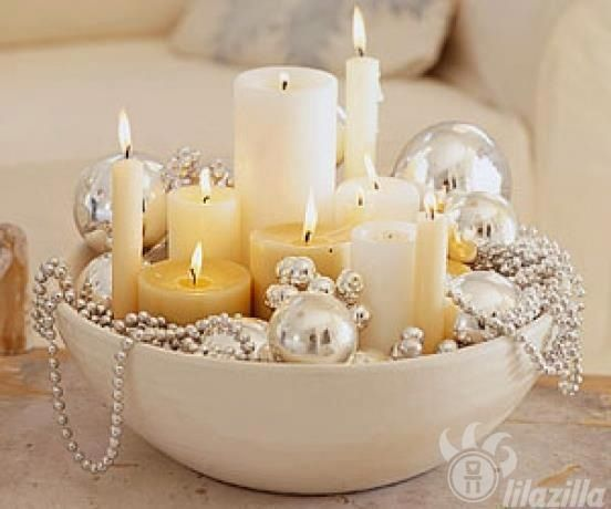 Xmas decor do something like this this year get some more candles.