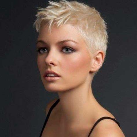 Frauen Frisuren Extrem Kurz Frisuren Pinterest