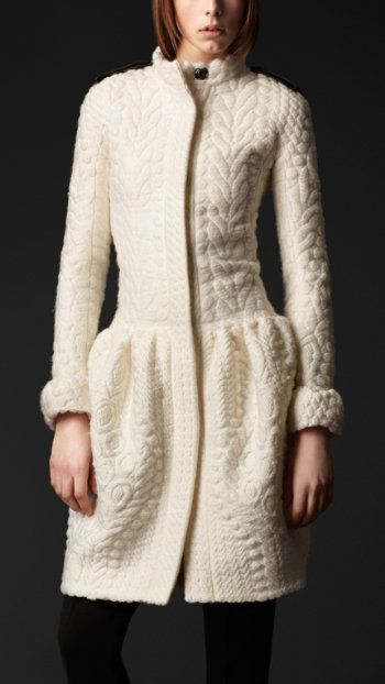 Gorgeous Burberry coat. At $3,595.00 it was out of my price range but lovely to look at.