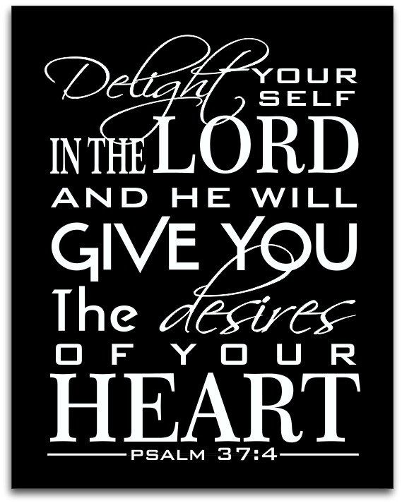 Delight in Him