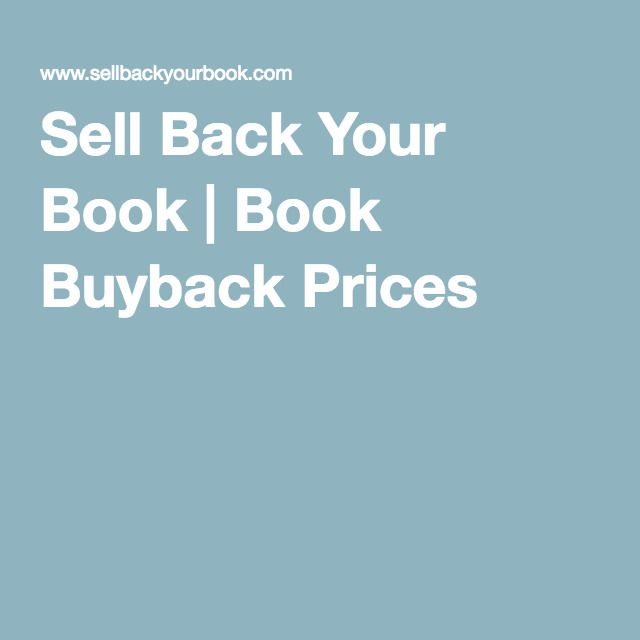 Sell Back Your Book | Book Buyback Prices