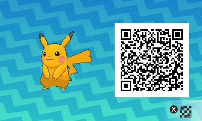 Shiny Female Pikachu! Pokemon Sun / Moon QR Codes - Imgur