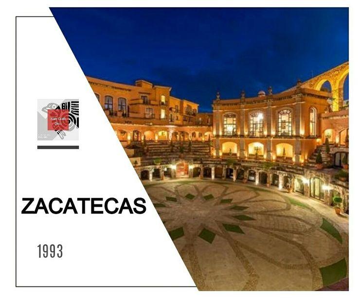 """Una ciudad merecedora de títulos y honoríficos calificativos """"Minas de los Zacatecas"""", """"Muy Noble y Leal Ciudad de Nuestra Señora de los Zacatecas"""" y """"Civilizadora del Norte"""". En 1993, la #UNESCO le otorga el de #PatrimonioCulturalDeLaHumanidad.  Atractivos: #Catedral #ExPlazaDeToros #ExConventoDeSanFrancisco #MinaElEdén #MuseoAbstractoManuelFelguérez #MuseoRafaelCoronel #CerroDeLaBufa"""