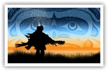 Eagle Down Dancer by Andy Everson,  K'ómoks First Nation
