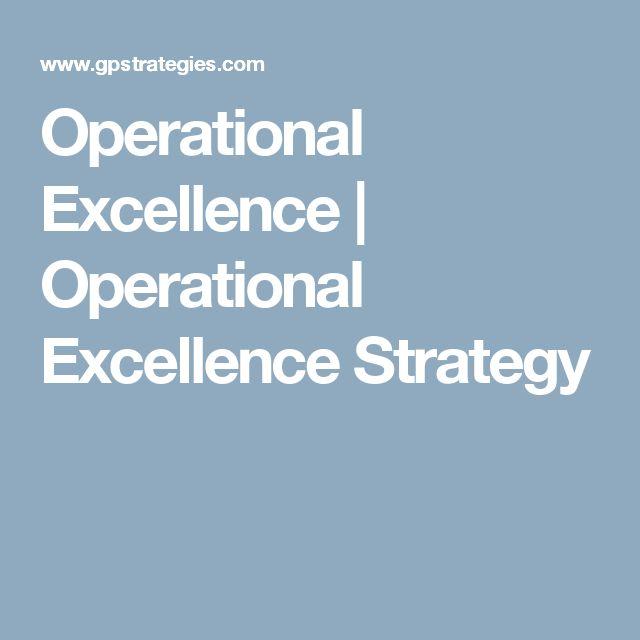 Operational Excellence | Operational Excellence Strategy