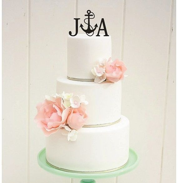 Nautical wedding cake topper.