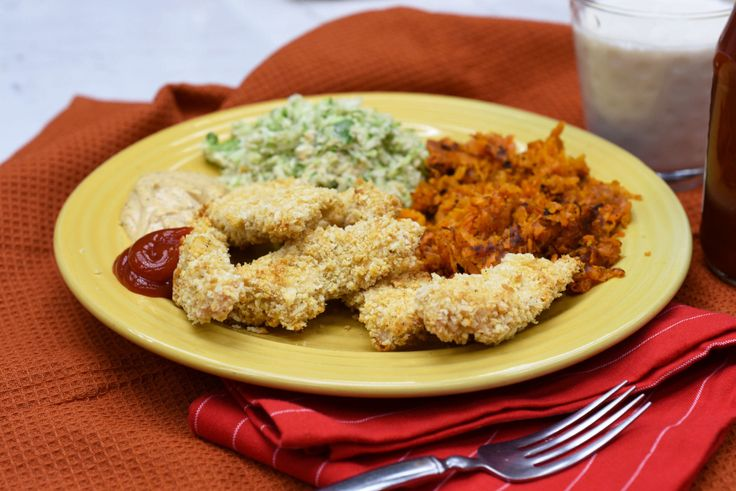 These oven-baked panko chicken strips are a simple answer to when you're craving some good. old-fashioned finger food.