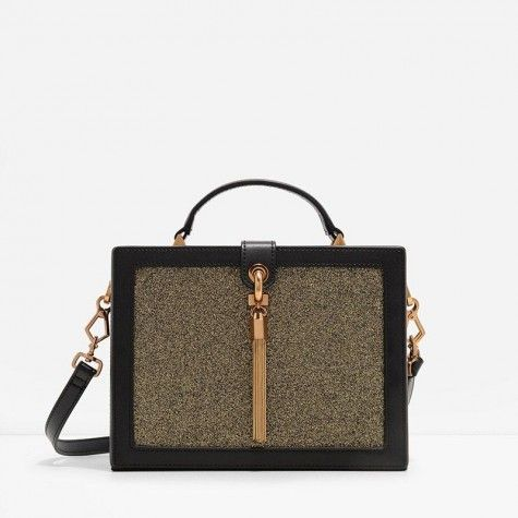 TASSELLED BOX BAG