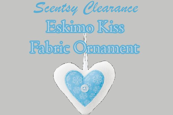 ***SCENTSY CLEARANCE*** Scentsy's Eskimo Kiss Fabric Ornaments are HUGE! They also smell amazing! They are the perfect edition to your tree-triming festivities. Blackberry jam, caramelized brown sugar, vanilla and amber in a softly romantic scent. https://cuanam50.scentsy.us/shop/p/44961/eskimo-kiss-fabric-ornament?utm_content=bufferf5be6&utm_medium=social&utm_source=pinterest.com&utm_campaign=buffer