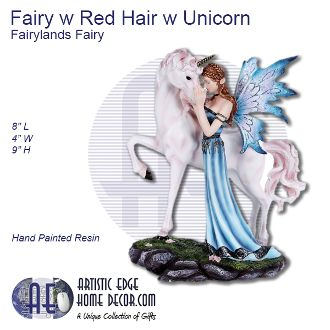 Fairy with Red Hair with Unicorn Fairyland Fairy
