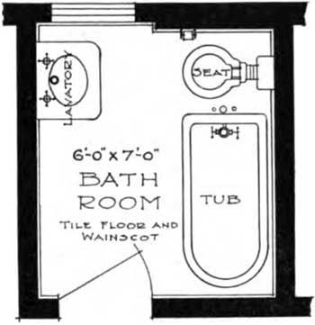 small bathroom plans | Small Bathroom Floor Plans: A space 6x7 ft. is almost the