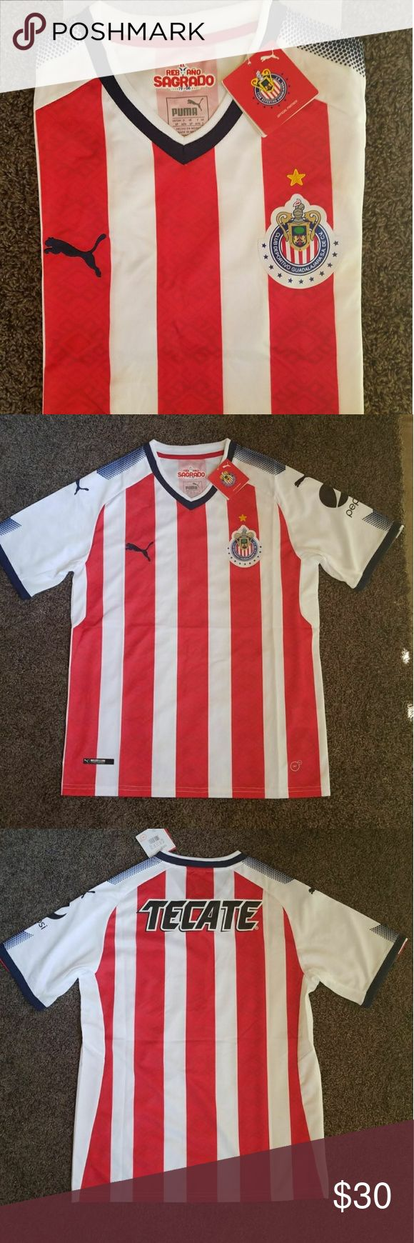 CHIVAS DE GUADALAJARA HOME JERSEY 17-18 This a brand new chivas de guadalajara jersey season 2017-2018  Prices are firm, you only get discount by adding 2 jerseys to your bundle. Puma Other