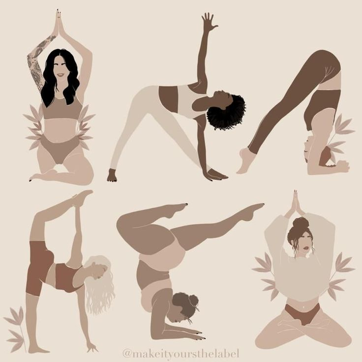 40 instagram highlight cover icons diverse yoga girls poses