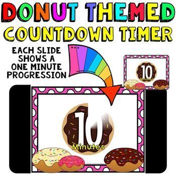 Classroom Timer: This is a fun countdown timer that has a donut theme. It can really be used any time during the year. Countdown timers can be helpful for activities such as: timed math tests, game time, center rotations, working with a partner, turn and talk times, sustained silent reading, brainstorming time, and more. Find my other