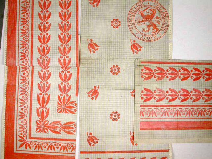 Patroontekeningen tafelgoed 'Koninklijke Hollandsche Lloyd'