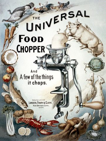 The Universal Food Chopper | Vintage Poster #vintage #poster #food
