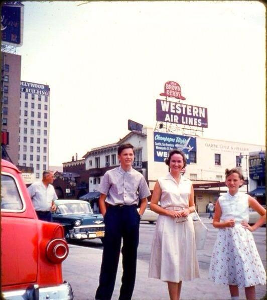 Brown Derby Restaurant , Vine St., Hollywood mid 1950s