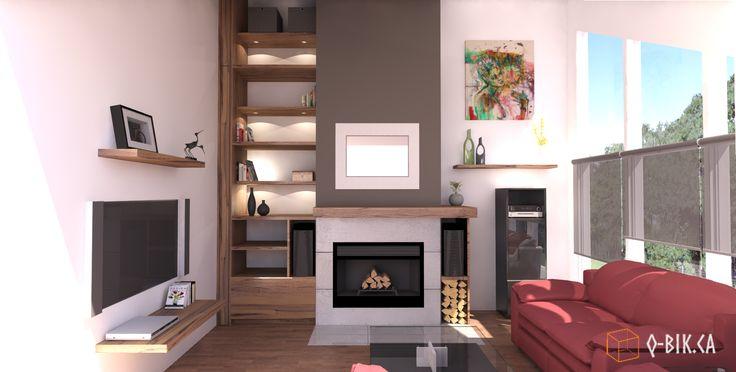 Projet de revêtement de cheminée par Q-bik