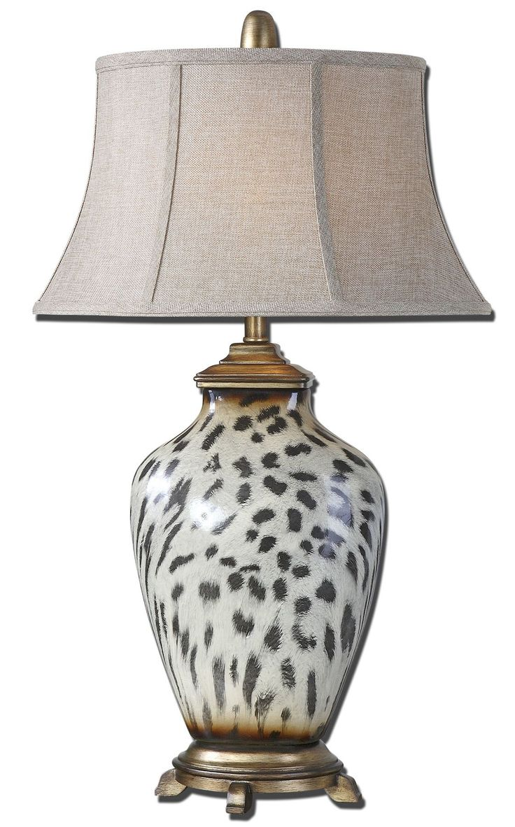 Malawi Cheetah Print Table Lamp
