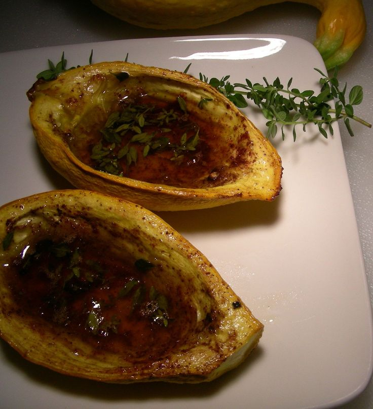 A Frenchtown Kitchen: Baked Yellow Crookneck Squash with Brown Sugar, Cinnamon and Thyme