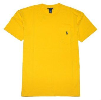 Polo Ralph Lauren Men Crewneck Front Pocket Pony Logo T-shirt $24.99