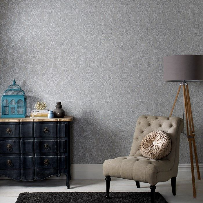 Province Grey Wallpaper by Graham and Brown