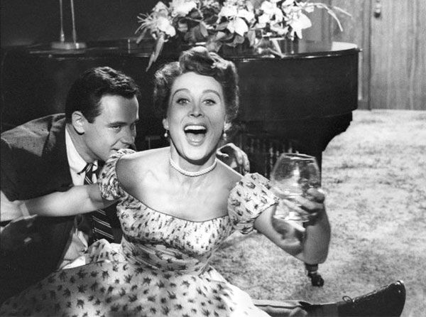 Betty Garrett and Jack Lemmon in a still from the 1954 film, 'My Sister Eileen.' Betty Garrett died on February 11, 2011.