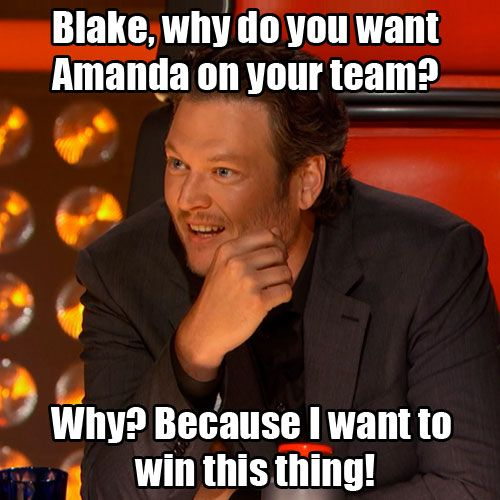 Blake Shelton vying for the Steal! #TheVoice