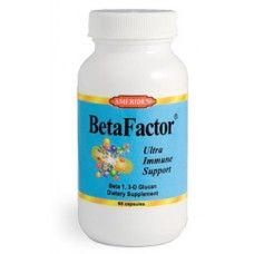 BetaFactor - Beta 1, 3-D Glucan - 60 capsules. Triggers an immune reaction against viral, bacterial, fungal, parasitic or neoplastic invaders. Potent antioxidant properties of Beta-Glucan impart effective free radical scavenging activity.