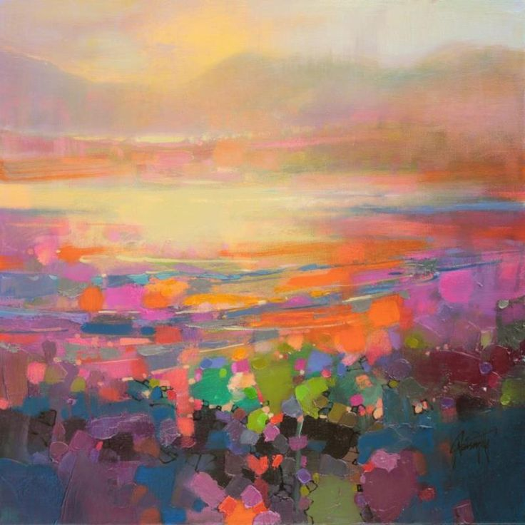 Contemporary abstract original paintings of colorful landscape and man - 25 Best Ideas About Landscape Oil Paintings On Pinterest