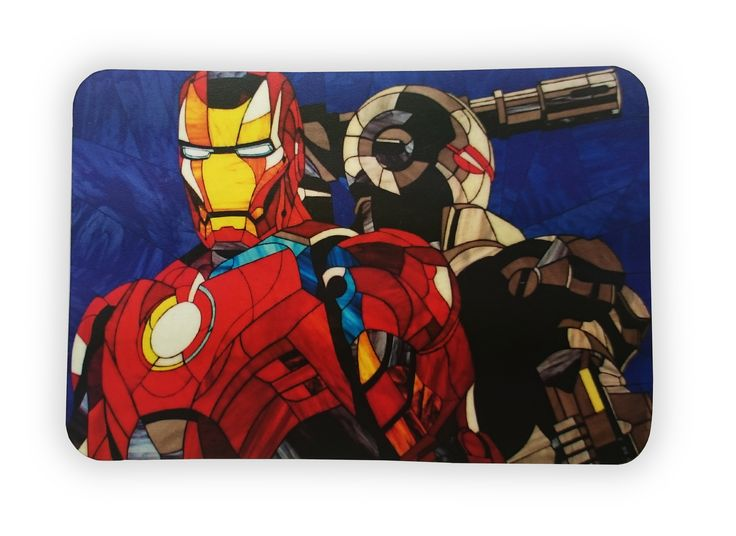 """Heroic Magnet """"Iron Man and War Machine."""" Photos of the classic stained glass in the Tiffany technique https://www.etsy.com/ru/listing/263803876/heroic-magnet-iron-man-and-war-machine?ref=shop_home_active_9 #stainedglass #ironman #avengers #warmachine #marvel #marvelcomics #comics  #glassart #art #artbrothers #витраж #magnet #gift"""