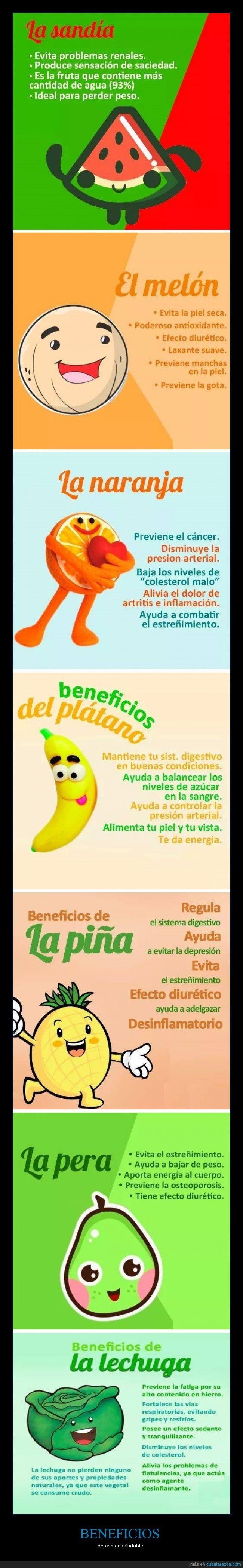 Los beneficios de las frutas #Nutrición y #Salud YG > nutricionysaludyg.com