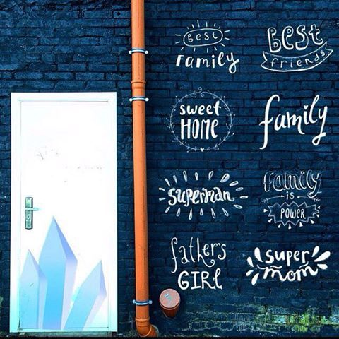 We all know that it is forbidden to draw on the walls. But if you can't resist you may decorate the wall with beautiful letters from #lilworld  photo @varya_che