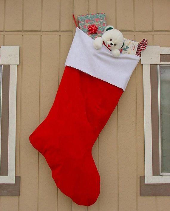 5 Foot Gigantic Plain Felt Christmas Stocking Embroidered Personalized Christmtocking
