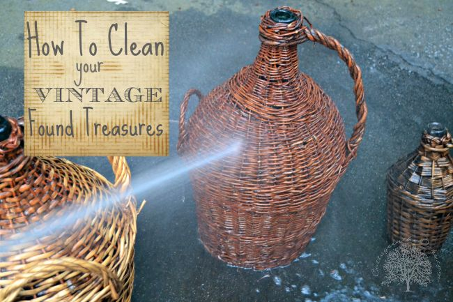Cleaning Your Vintage Finds #diy #howto