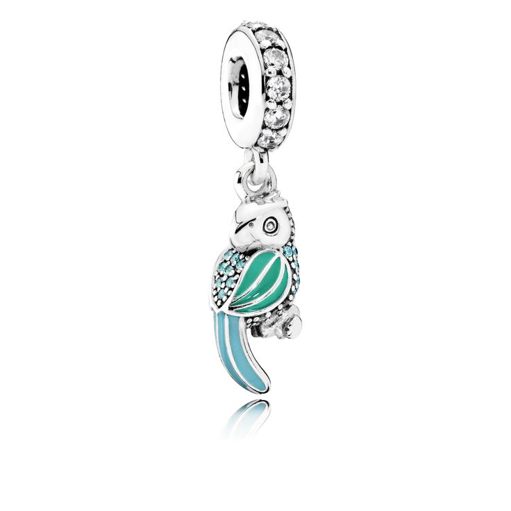With its vivacious colors and whimsical look, this quirky parrot charm exudes a sense of joy and excitement that will add a tropical twist to any bracelet styling. #PANDORA #PANDORAcharm #SummerCollection16