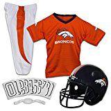 Franklin Sports NFL Denver Broncos Deluxe Youth Uniform Set Small